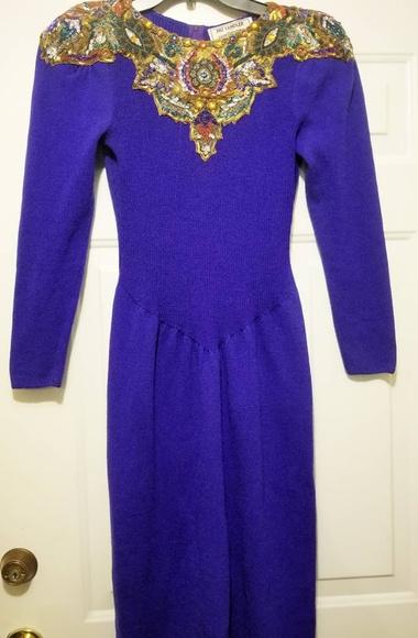 Pat Sandler Dresses & Skirts - Vintage - Stunning Pat Sandler Sequin Dress Size 8